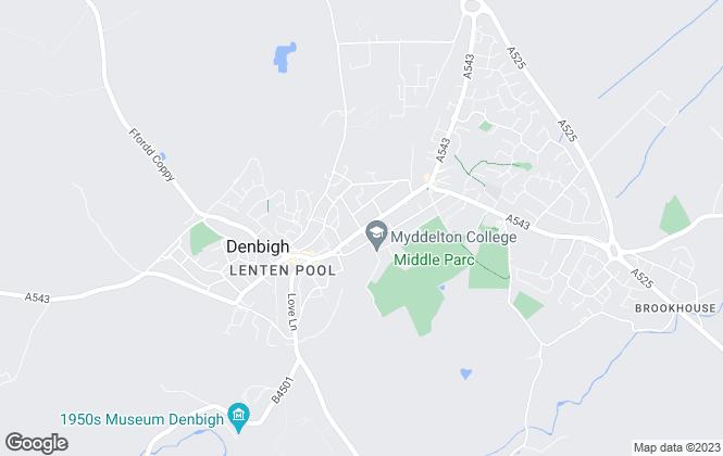 Map for Jones Peckover, Denbigh