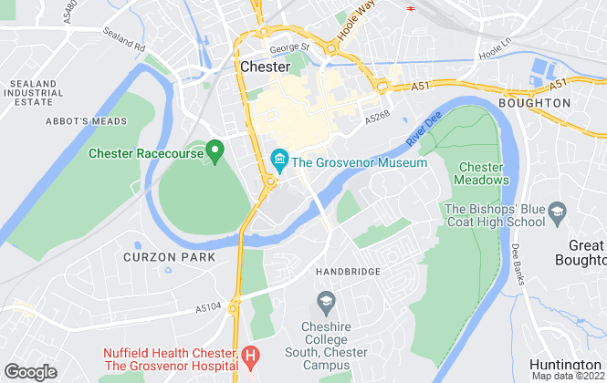 Map for Denton Clark Rentals ltd, Chester