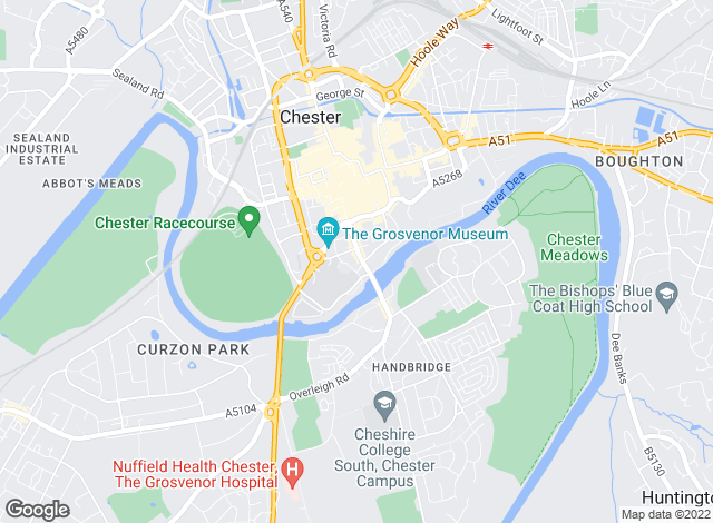 Map for Temples Property Management, Chester