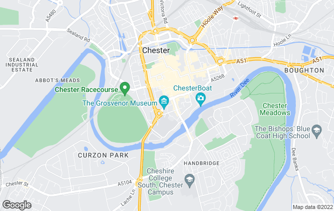 Map for Thomas Property Group, Chester - Lettings