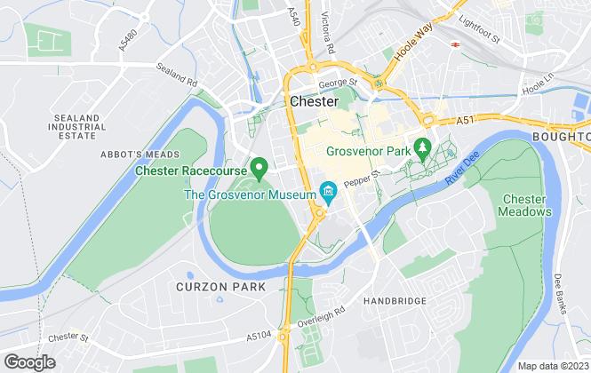 Map for Hart & Co Residential, Chester