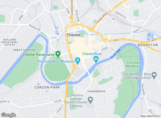 Map for Beresford Adams, Chester
