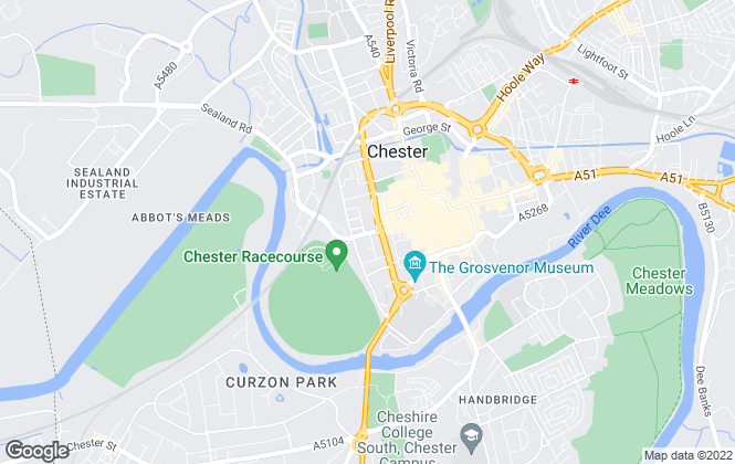 Map for Eastgate Rentals, Chester