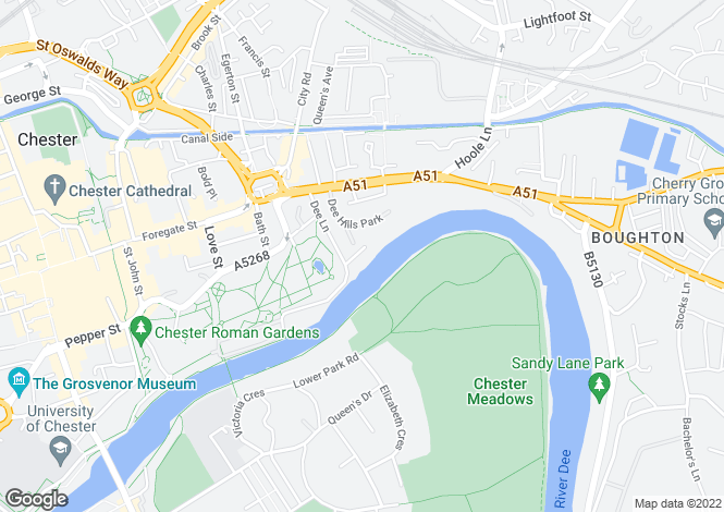Map for Deva Terrace, Chester, Cheshire