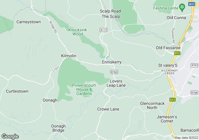Map for Eagle Valley, Enniskerry,, Co. Wicklow