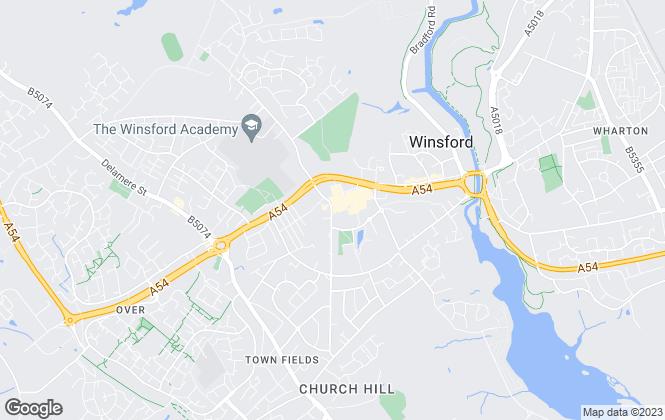 Map for Swetenhams, Winsford