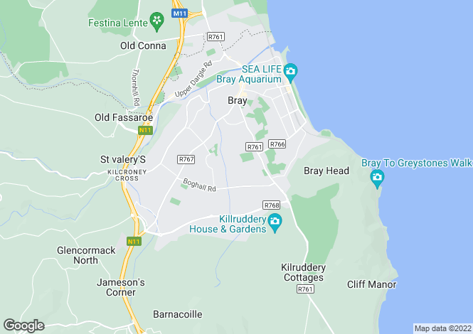 Map for 29A Sugarloaf Crescent, , Bray, Wicklow
