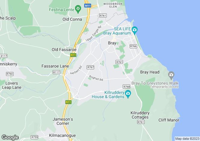 Map for 12 Kilgraston Court, Oldcourt Park, Bray, Co Wicklow
