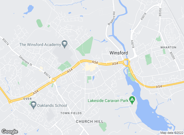 Map for Entwistle Green, Winsford