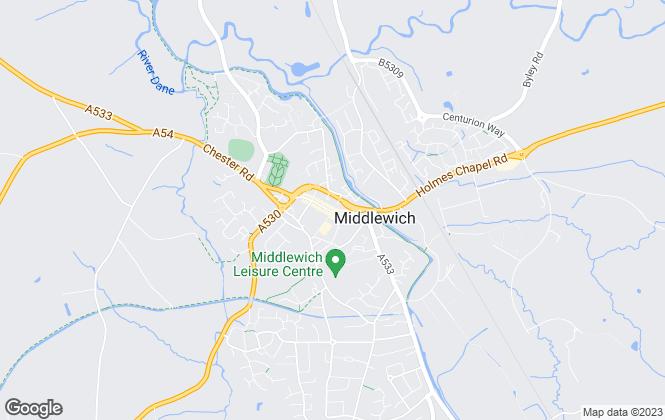 Map for Townbridge Estate Agents, Middlewich