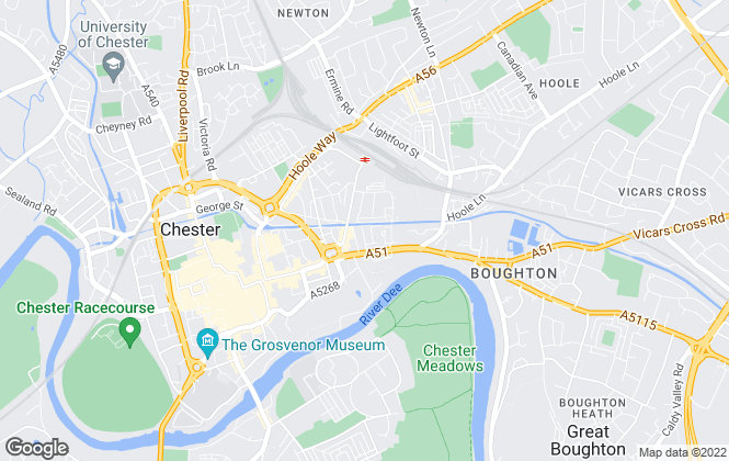 Map for DTB Residential, Chester