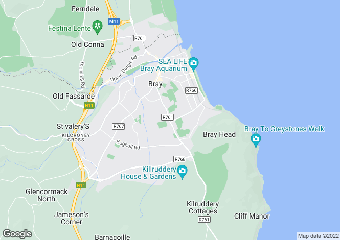 Map for 5 Newcourt Villas, Vevay Road, Bray, Co Wicklow