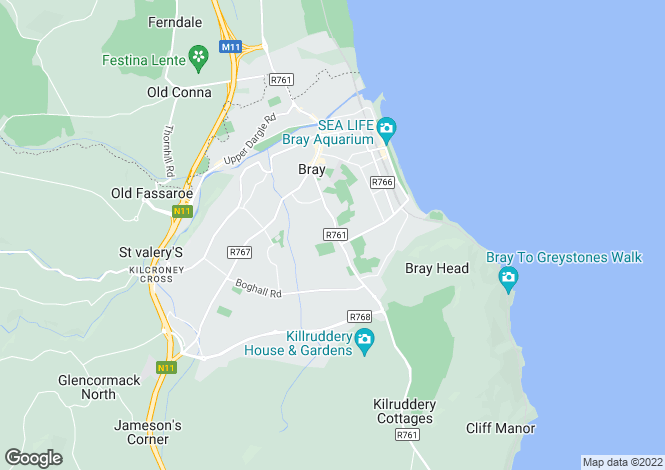 Map for 2 Lauderdale Terrace, Vevay Road, Bray, Co. Wicklow, A98 P3F2