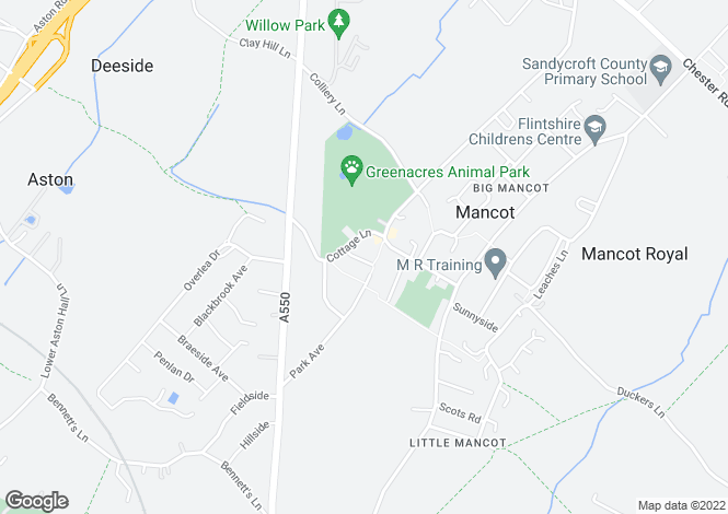 Map for Brookleigh Avenue, Mancot, Deeside CH5