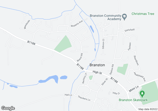 Map for Beech Road, Branston, Lincoln, Lincolnshire, LN4