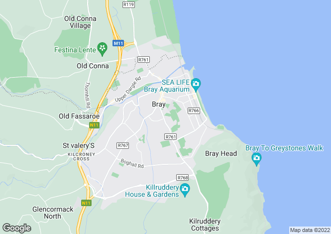 Map for 14 Vevay Crescent, Bray, Wicklow