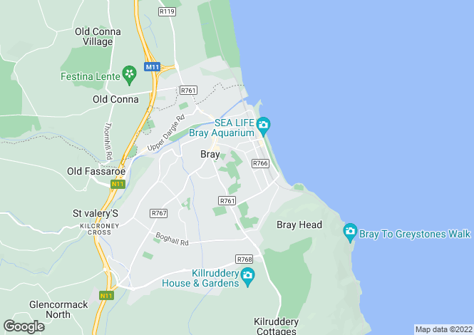 Map for 39 Sidmonton Gardens, Sidmonton Road, Bray, Co Wicklow, A98 E932