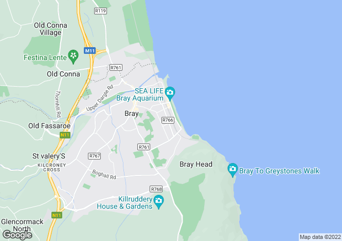 Map for Bray, Wicklow