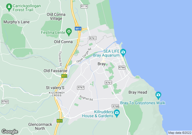 Map for 6 King Edward Road, Bray, Co. Wicklow