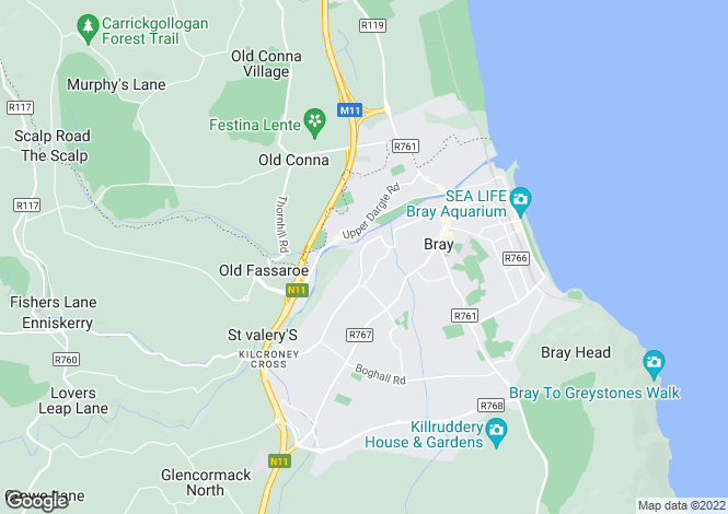 Map for 102 Ardmore Park, Bray, Co. Wicklow