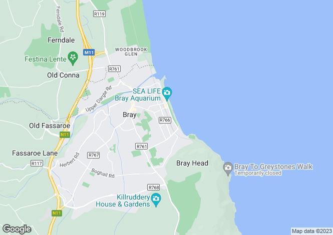 Map for 1A Victoria Avenue, Bray, Wicklow