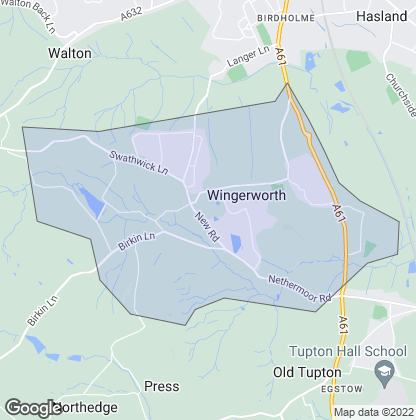 Map of property in Wingerworth