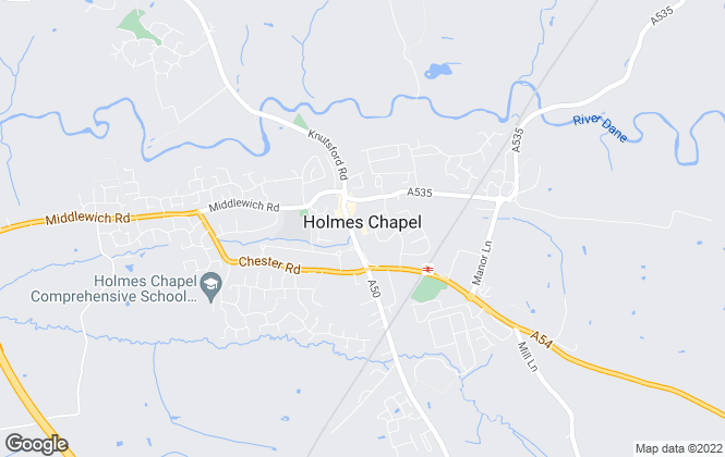 Map for Reeds Rains Lettings, Holmes Chapel