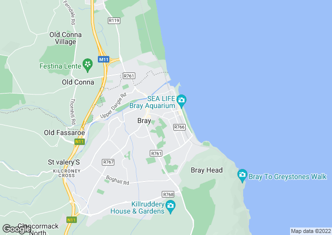 Map for Sidmonton Cottage, Novara Avenue, Bray, Co.Wicklow, A98 DN25