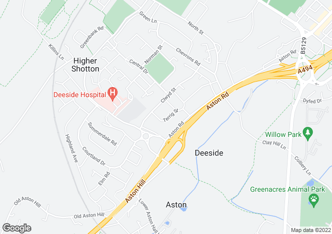 Map for Terrig Street,
