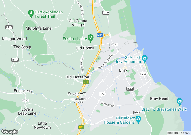 Map for 9 The Pines, Diamond Valley, Bray, Co Wicklow, A98 DV52