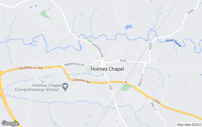 Map for Gascoigne Halman, Holmes Chapel Lettings