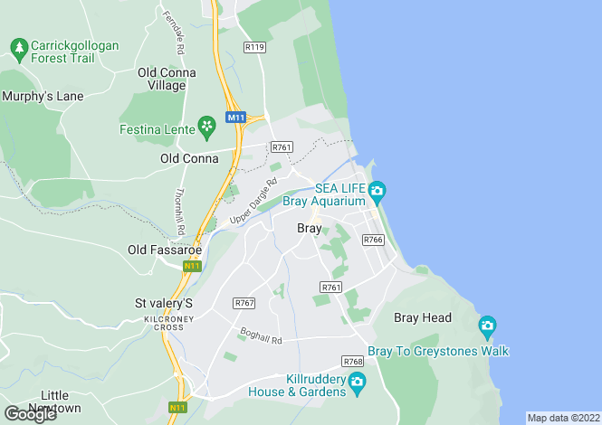 Map for 19 St Kevin's Square, Bray, Co.Wicklow