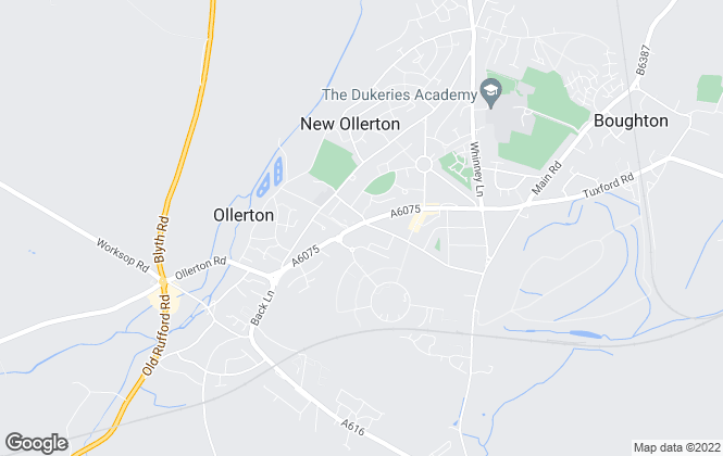 Map for Chadwells estate agents, New Ollerton