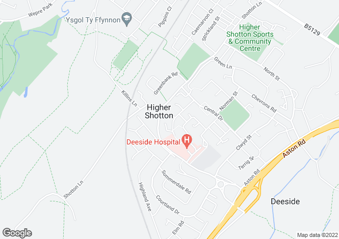 Map for Oaktree Close, Higher Shotton CH5 1PJ