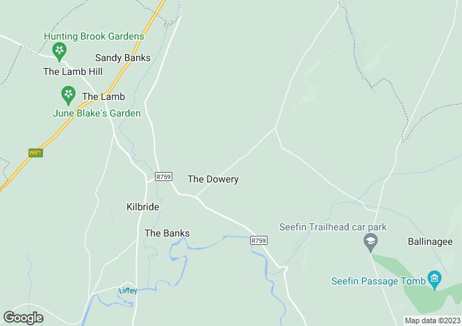 Map for Harvest Moon, Manor Kilbride, Blessington, Wicklow