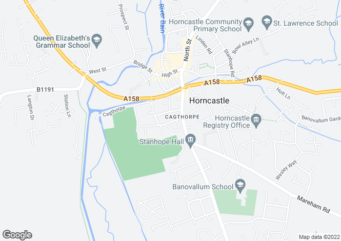 Map for The Wong, Horncastle, Lincolnshire
