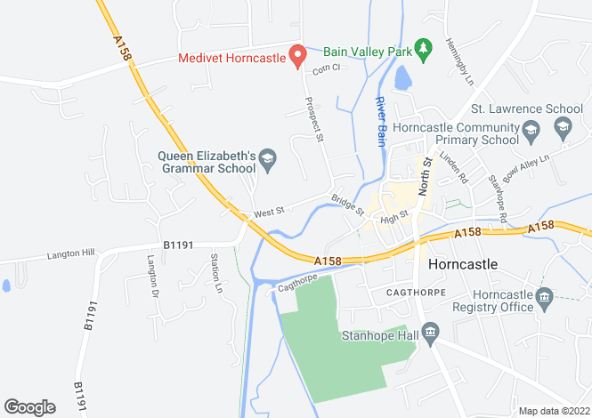 Map for West Street, Horncastle, LN9