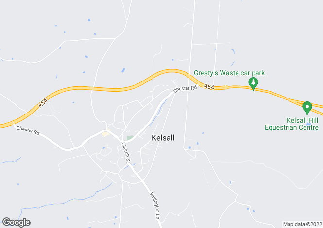 Map for Kelsall, Nr Chester