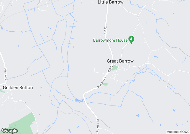 Map for Great Barrow, Chester