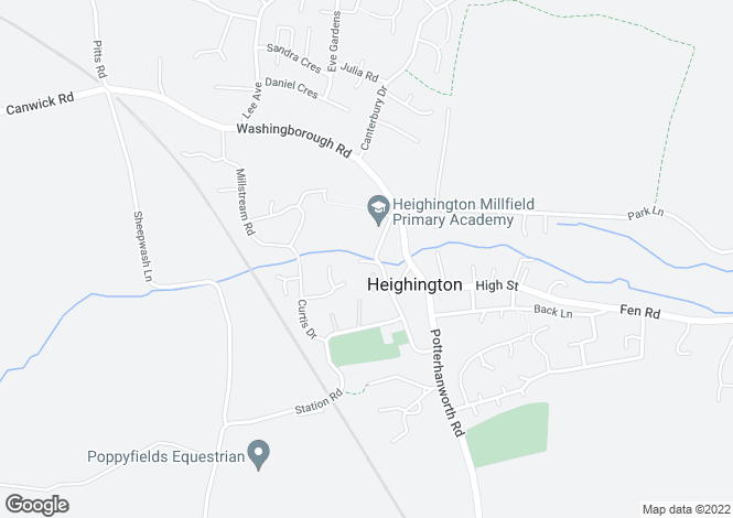 Map for Heighington, Lincoln