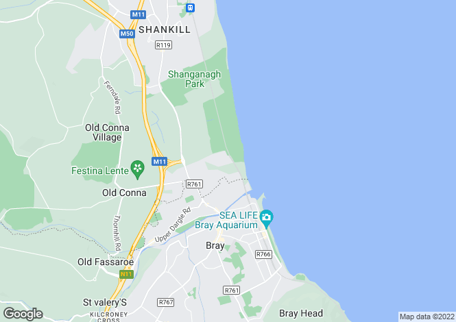 Map for 40 The Green, Woodbrook Glen, Bray, Co. Wicklow