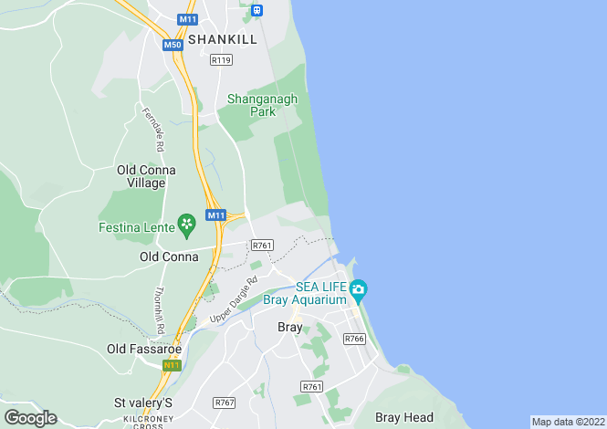 Map for 18 The Green, Woodbrook Glen, Bray, Co. Wicklow, A98 HY24