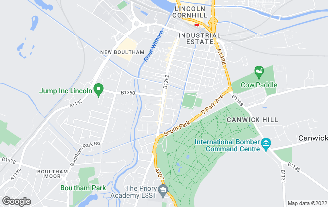 Map for Belvoir, Lincoln