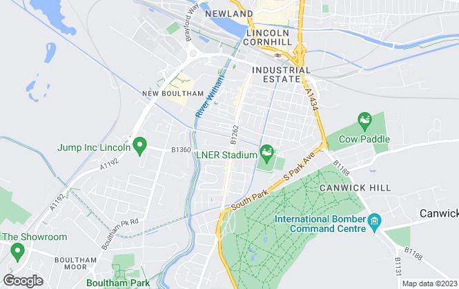 Map for Easilett, Lincoln