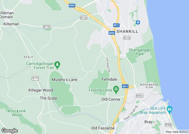 Map for 3.5 acres, Quarry Road, Rathmichael, Dublin