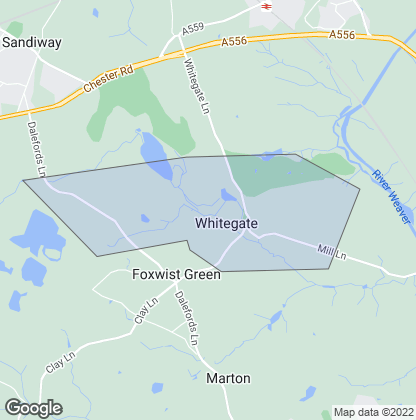 Map of property in Whitegate