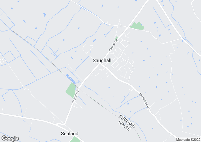 Map for Saughall
