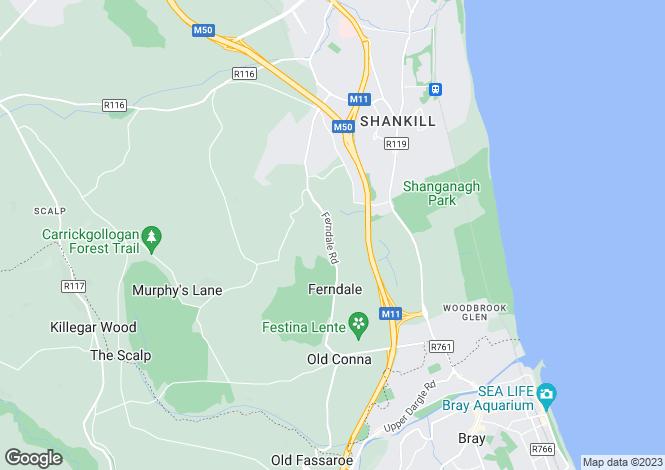 Map for Springmount, Ferndale Road, Rathmichael, Dublin 18, D18 V0V8