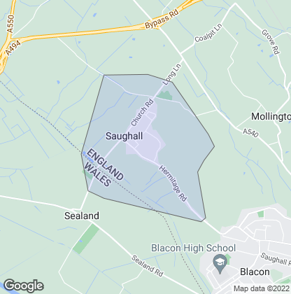 Map of property in Saughall