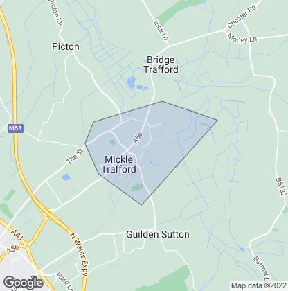 Map of property in Mickle Trafford
